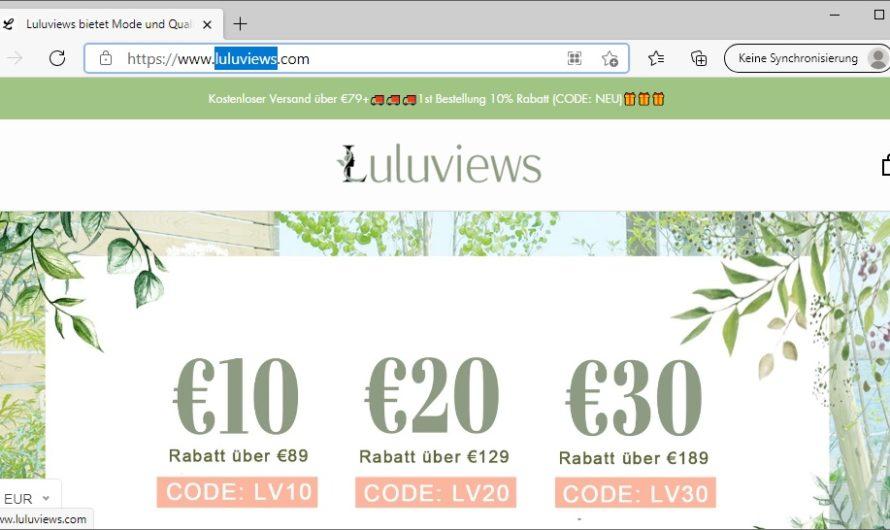 Luluviews Erfahrungen und Bewertungen zum luluviews.com Mode Shop