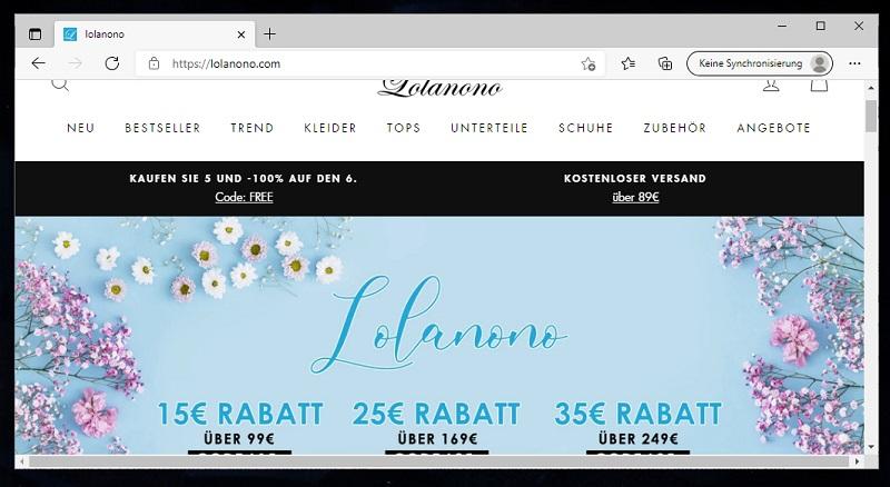 Lolanono Erfahrungen und Bewertungen zum lolanono.com Mode Shop